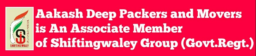 Aakash Deep Packers and Movers is An Associate Member of Shiftingwaley Group