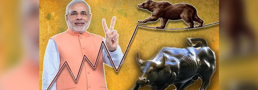 एक्जिट पोल में BJP की प्रचंड जीत से शेयर बाजार भी खुश,  सेंसेक्स 788 अंक चढ़ा: